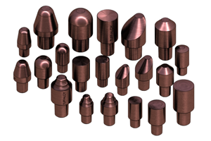Cap electrodes and shanks | Weld Systems Integrators