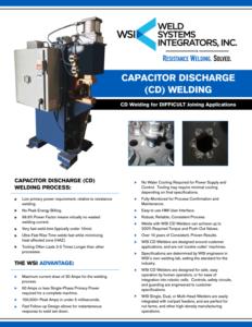 Brochure - WSI CD Welding | Weld Systems Integrators