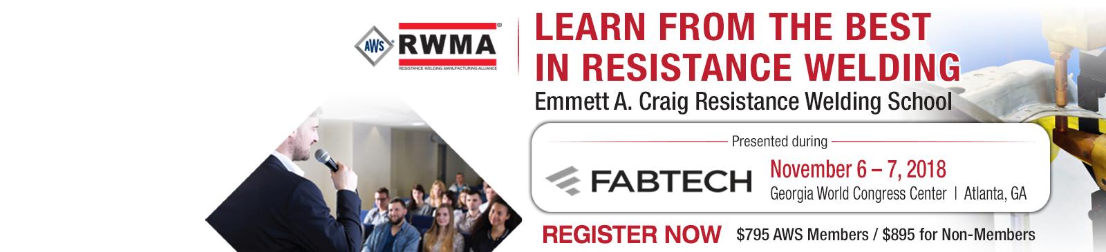 AWS RWMA Resistance Welding School